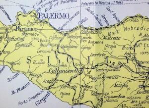 wegenkaart sicilie